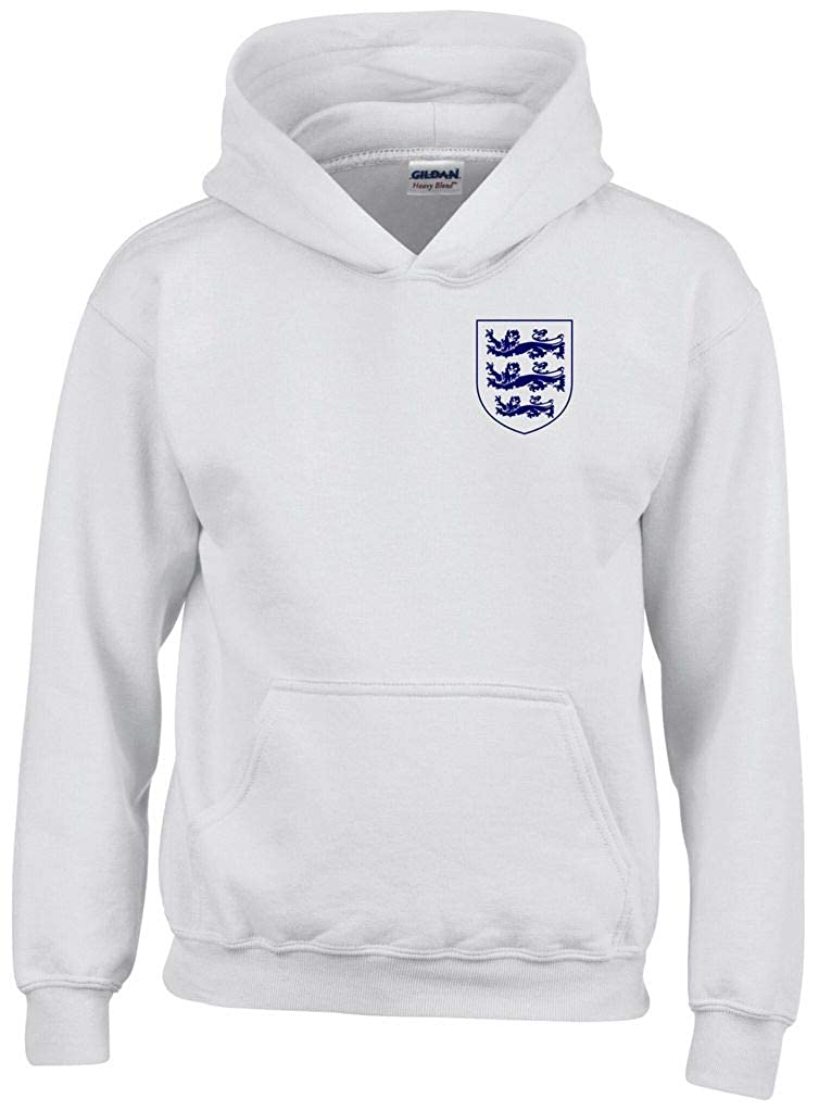 3 LIONS LARGE CREST ENGLAND WOMENS FOOTBALL WORLD CUP 2019 HOODIE KIDS