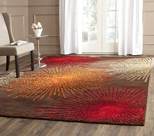 Safavieh Soho Collection SOH712B Handmade Fireworks Brown and Multicolored Premium Wool Area Rug 11' x 15'