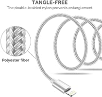 UNBREAKcable Lightning iPhone Charger Cable [Apple MFi Certified] 6.6ft2m Nylon Braided Apple Charger Lead USB Fast Charging Cable for iPhone Xs
