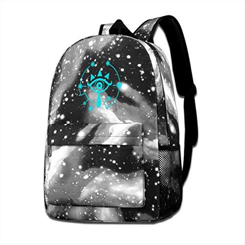OIHDJHI Sheikah Slate Legend Of Zelda Breath Of The Wild Travel Shoulders Bag Starry Sky Daypack For Teen Boys Girls (Breath Of The Wild In Zelda Timeline)