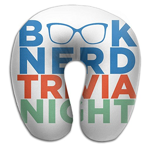 U-Shaped Neck Pillow Book Nerd Trivia Night Pillows