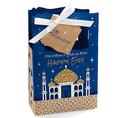 (Personalized Ramadan - Custom Eid Mubarak Favor Boxes - Set of 12 )