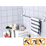 Glaster Bathroom Towel Rack. Install Towel Bars and Mount in the Bathroom with No-Damage Hanging Strips. Waterproof, Adjustable. Better than Suction Cups!