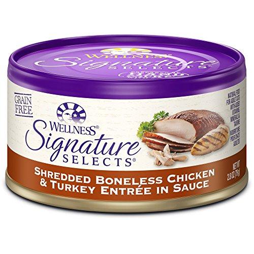 Wellpet Wellness Cat Signature Selects Shredded Chicken/Turkey 24/2.8oz