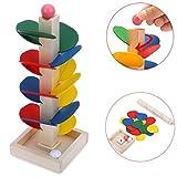 Winkey Toy for Baby Boys Girls, Ball Run Track Game Toy Wooden DIY Mini Tree Baby Kids Education
