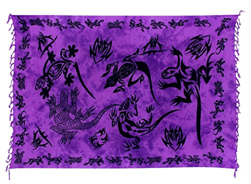 Kascha Trading - Camisola - para mujer Gecko Lila Batik