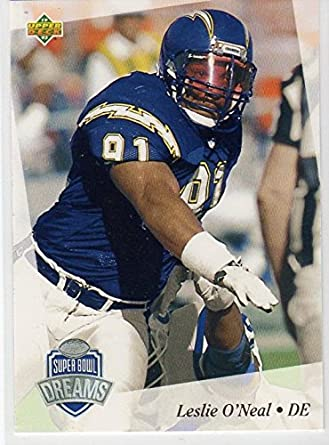 NFL Experience Exclusive Gold Parallel Leslie O'Neal