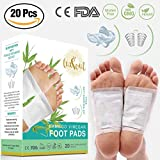 Bamboo Vinegar Foot Pads with Free Anti-Snoring Kit – Includes a Tongue Retaining Device with Carrying Case and Nasal Vents - Rapid Foot Care Sleep Aid Pain Relief All Natural Ingredients. by LuxSoul