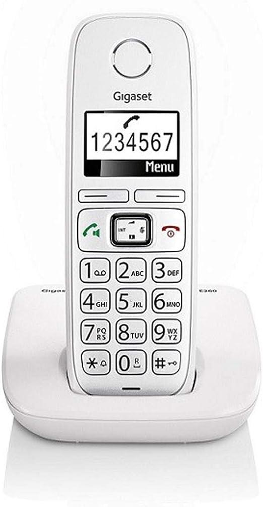 Gigaset E260 - Teléfono inalámbrico DECT de 1.8