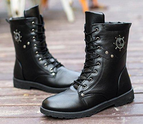 da alla 40 black da uomo invernali moda tendenza Stivali impermeabili da teenager awU5qTU
