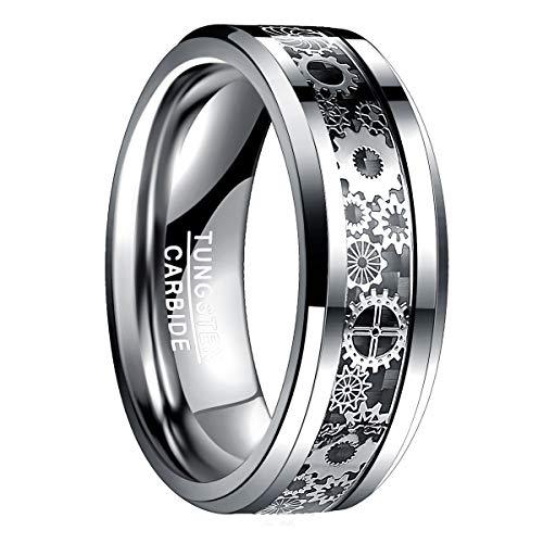 Natur Fashion – Herren Ring Zahnrad/Kosmos Design