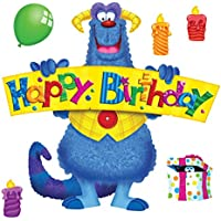 Trend Enterprises Furry Friends Birthday Fun Bulletin Board Set (32 Piece)