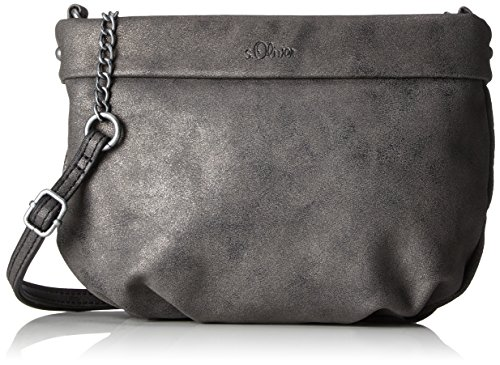 s.Oliver (Bags) 39.712.94.4503 - Borse a tracolla Donna, Schwarz (Black/schwarz), 4x18.5x24.5 cm (B x H T)