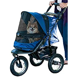 Pet Gear No-Zip Jogger Pet Stroller Zipperless Entry Midnight River