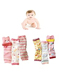 Luckystaryuan ® Prime Deals Set of 6 Cotton Baby Cartoon Leg Warmers