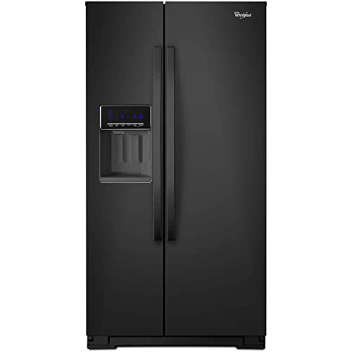 Whirlpool WRS571CIDB 20.6 Cu. Ft. Black Side-by-Side Refrigerator
