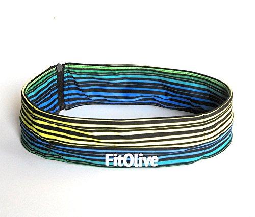 Classic Kids Belt (FitOlive Fashionable Multipurpose Waist Band, Running Belt (Stripe,)