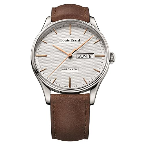 Louis Erard Men's Heritage 41mm Brown Leather Band Steel Case Automatic Analog Watch 72288AA31.BVA01