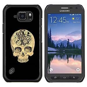 """Be-Star Único Patrón Plástico Duro Fundas Cover Cubre Hard Case Cover Para Samsung Galaxy S6 active / SM-G890 (NOT S6) ( Cráneo Tiempo Negro Profundo Significado Muerte"""" )"""