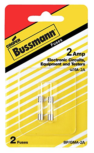 Bussman BP/GMA-2A 2 Amp Glass Tube Fast Acting Electronic Fuse 2 Count