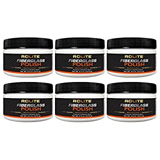 Rolite Fiberglass Polish (4.5oz) Removing Water Spots, Staining, Oxidation & Hairline Scratches from Boats, Clearcoat, Acrylic & Polycarbonate 6 Pack