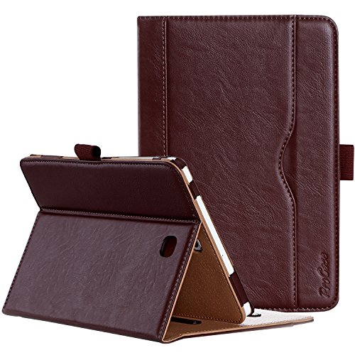 Leather Pedestal - ProCase Samsung Galaxy Tab S2 8.0 Case - Leather Stand Folio Case Cover for 2015 Galaxy Tab S2 Tablet (8.0 inch, SM-T710 T715 T713) -Brown