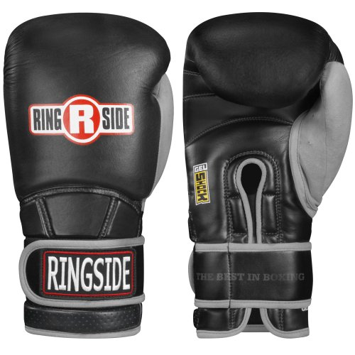- Ringside Gel Shock Safety Sparring Boxing Gloves, 18 oz, White/Gray