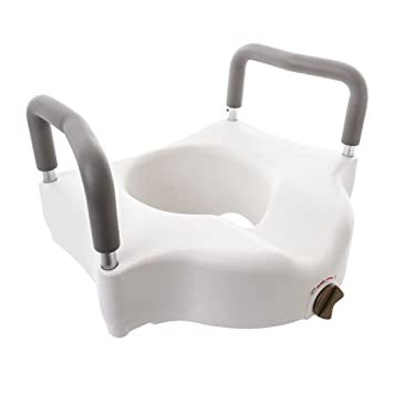 Tremendous Silver Spring Raised Toilet Seat With Lock And Arms Gamerscity Chair Design For Home Gamerscityorg