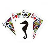 Black Hippocampus Marine Life Silhouette Poker Playing Card Tabletop Board Game Gift