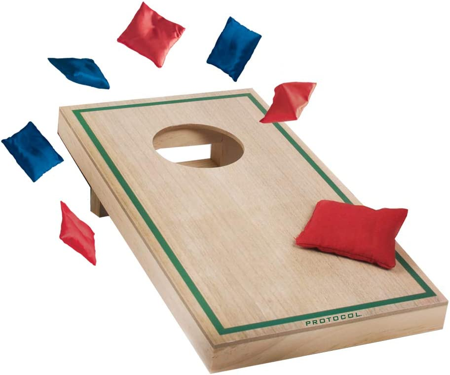 """6 Bags for Office Competition. and Classic Cornhole Football Protocol Winning AIM--Desktop Bean Bag TOSS Games---5 /½/""""W x 10 /¼/""""L Game fits on desktops 3 Baseball"""
