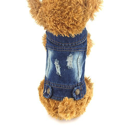 DOGGYZSTYLE Pet Vests Dog Denim Jacket Hoodies Puppy for sale  Delivered anywhere in Canada
