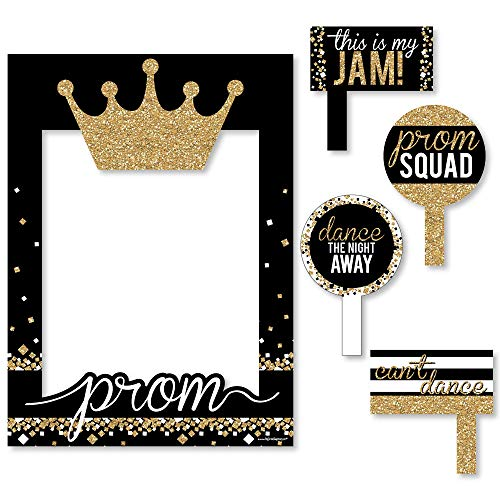 Prom - Prom Night Party Selfie Photo Booth Picture Frame & Props - Printed on Sturdy -