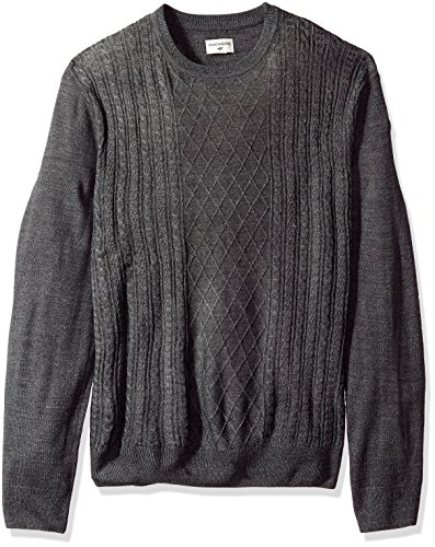 Dockers+Men%27s+Soft+Acrylic+Crewneck+Sweater%2C+Black+MARL%2C+X-Large