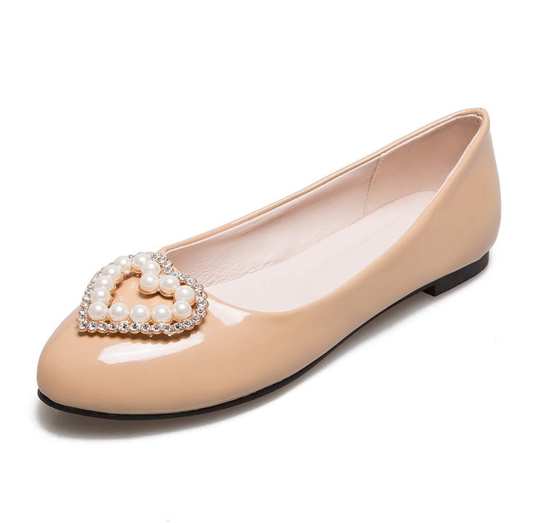 SERAPH Bateau 17-6 Femmes Femmes Perles Détails Ballerines Chaussures Dames Bateau Pompes Dolly Chaussures Beige 8959cc1 - automaticcouplings.space