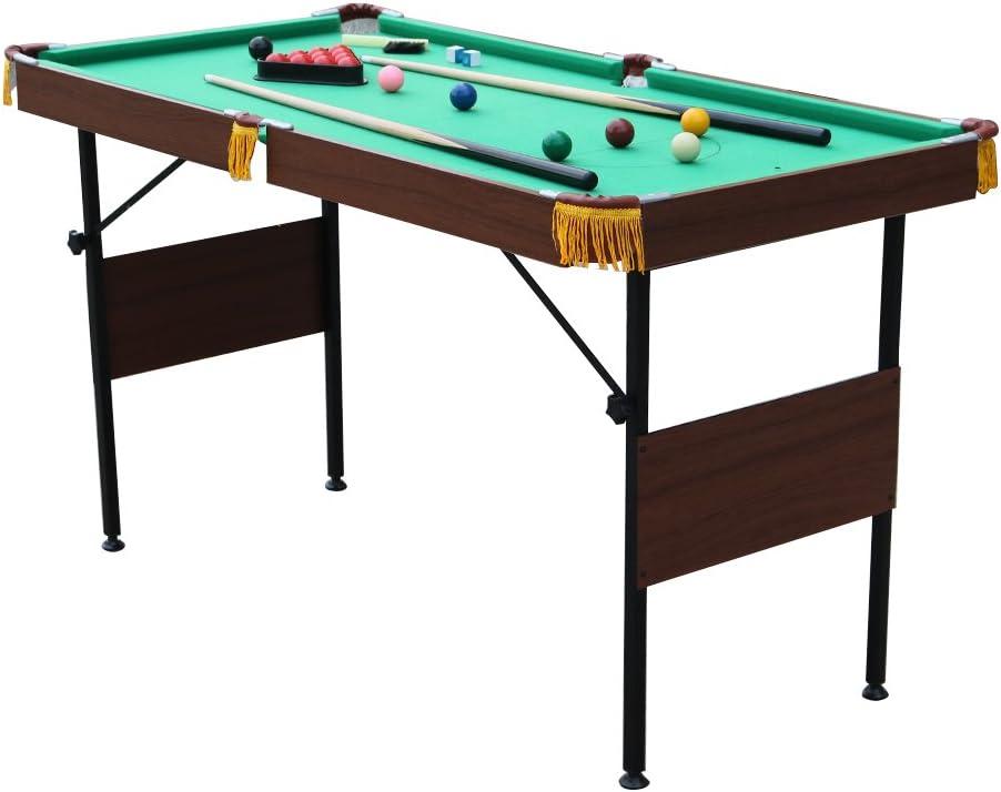 6 pies plegable de billar/de billar mesa de billar con bolas y otros accesorios: Amazon.es: Deportes y aire libre