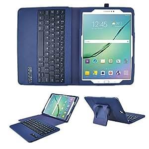 ELTD Samsung Galaxy Tab S2 9.7 Keyboard Case -Detachable Bluetooth Keyboard Leather Cover Case for Samsung Galaxy Tab S2 9.7, Blue by ELTD