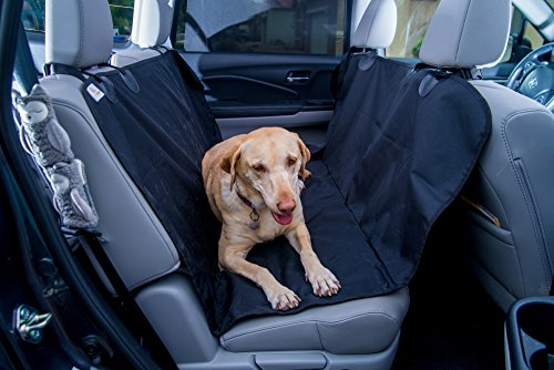 Pet Seat Cover for Cars, Trucks and SUV's - (Universal Size) Dog Car Seat Cover for Pets, Hammock Convertible, Dog Seat Cover Protects Car Seats, Non-Slip, WaterProof (Premium Oak Trucks)