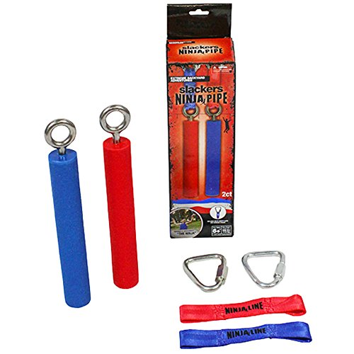 "Price comparison product image Slackers 8"" Two Piece Ninja Pipe Set,  One Size,  Red / Blue"