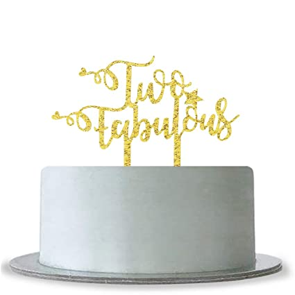 Image Unavailable Not Available For Color Two Fabulous Cake Topper