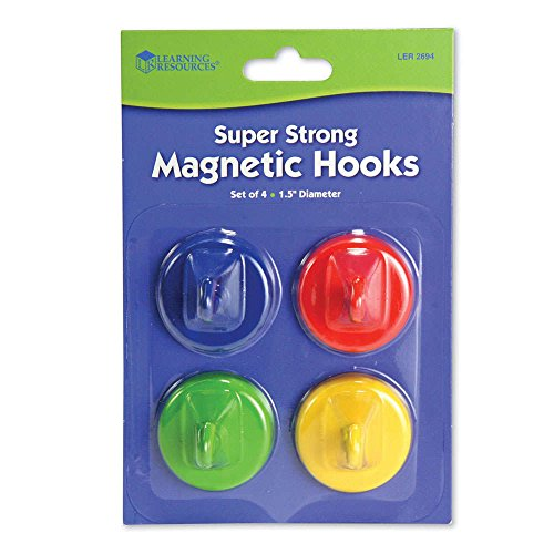 Learning Resources Super Strong Magnetic Hooks, Set of 4 by Learning Resources (Image #1)