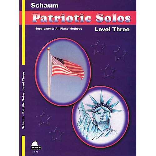 Patriotic Solos (Level 3 Early Inter) Educational Piano Book- Pack of 3