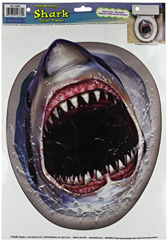 Shark Toilet Topper Peel 'N Place Party Accessory (1 count) (1/Sh) ()