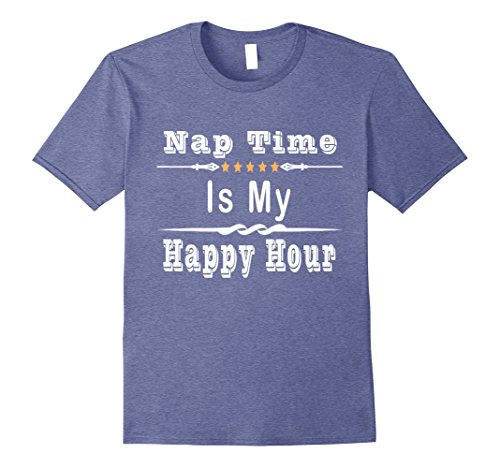 Mens Nap Time Is My Happy Hour T Shirt 3XL Heather Blue
