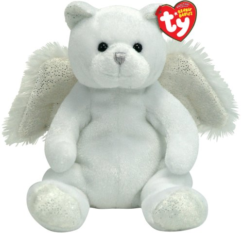 Amazon.com  Ty Beanie Babies - Heavenly the White Angel Bear With Wings   Toys   Games 43da5ae5c98