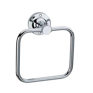 Siddhi Hardware Towel Ring and Rod Napkin, Stainless steel, Rust Resistent, Chrome Finish