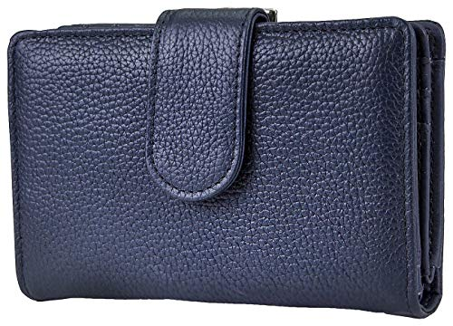 Mundi Rio Leather S&P Indexer Wallet One Size Navy blue ()
