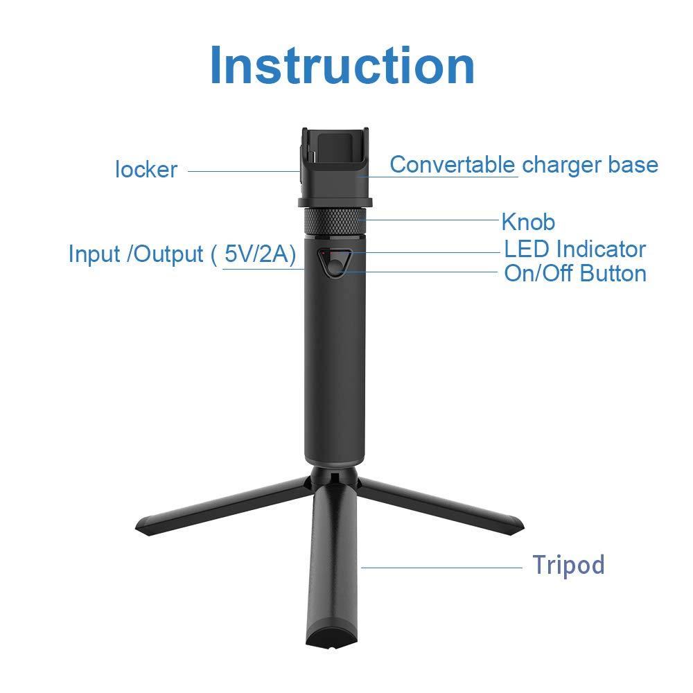 la tasca OSMO NON /è INCLUSA Smatree Caricatore portatile da 5000 mAh con treppiede compatibile con DJI OSMO Pocket Caricatore per DJI OSMO Pocket con treppiede