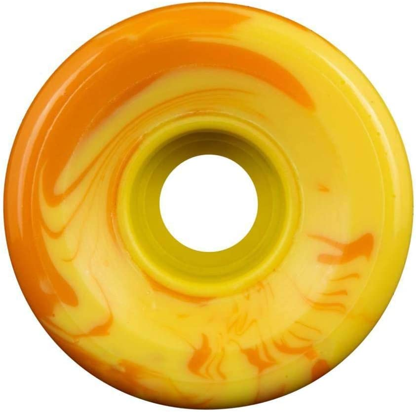 60mm OJ Danny Dicola Super Juice 78a Skateboard Wheels Orange//Yellow Swirl