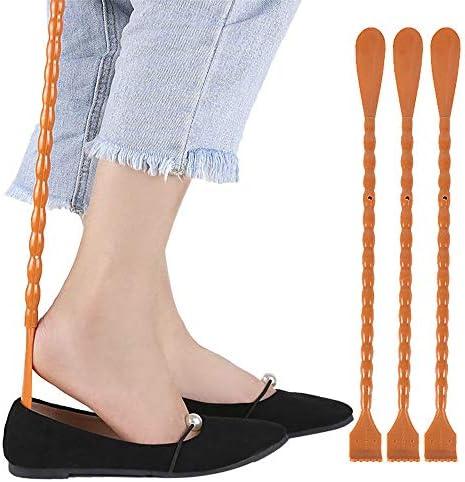 天然木 靴べら 大人の男性と女性は、デュアルユースの靴をスクラッチする人々のために求めていないひょうたん型の靴に適してい 余分な長い靴べら (色 : Multi-colored, Size : 46cm)