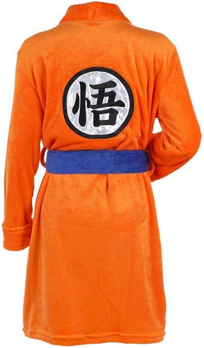 Erwachsene Kinder Dragon Ball Bademantel Son Goku Cosplay Kostum Bademantel Nachtwasche Plusch Robe Frauen Manner Pyjama Mantel Orange One Size Amazon De Bekleidung